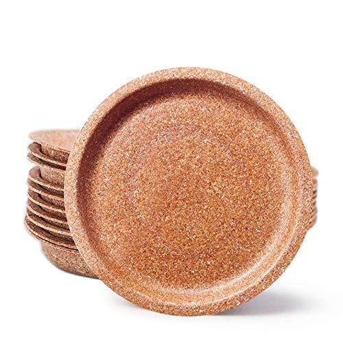 ECOMOLI Einweggeschirr aus Kleie - Teller mit einem Durchmesser von 24cm - 100 Stück Bio Einwegteller   Ofen- und Mikrowellengeeignet   Biologisch abbaubar   100% Natürlich - Essbar   Made in EU