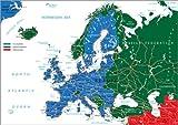 Posterlounge Forex-Platte 100 x 70 cm: EU- und Nicht-EU-Länder - Übersichtskarte von Editors Choice