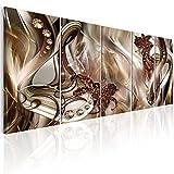 murando Bilder Blumen 200x80 cm - Vlies Leinwandbild - 5 Teilig - Kunstdruck - Modern - Wandbilder XXL - Wanddekoration - Design - Wand Bild - Lilie a-A-0307-b-n