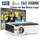 Vidéo Projecteur WiFi Sans Fil Bluetooth, 5000 Lumens Home Cinéma LCD LED HDMI USB Support HD 1080 P 720 P, pour Bluetooth Haut-Parleur TV DVD Home Entertainment Présentation Film Jeux Vidéo En Plein