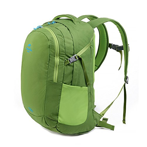 HYSENM Unisex Rucksack Wanderrucksack für Laptop Notebook-Rucksack Reisen Camping 35L Grün