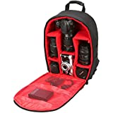 House of Quirk Camera Bag Camera Backpack Waterproof Fabric, Anyprize SLR Camera, Lens, Tripod and Camera Accessories with Rain Cover Protector
