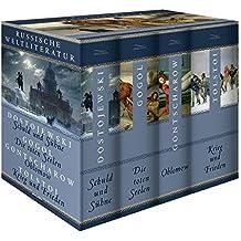Russische Weltliteratur: Schuld und Sühne - Die toten Seelen - Oblomow - Krieg und Frieden (4 Bände im Schuber)