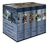 Russische Weltliteratur: Schuld und Sühne - Die toten Seelen - Oblomow - Krieg und Frieden (4 Bände im Schuber) - Fjodor Dostojewski