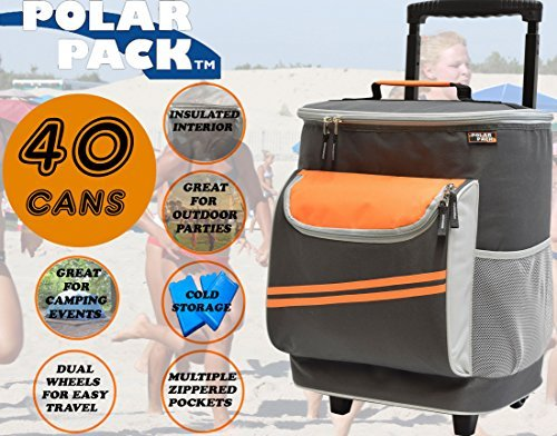 58a522fe896d POLAR PACK 40 Can Cooler on Wheels Insulated Picnic Bag Insulated Party Bag  Perfect Insulated Family Bag Ideal for Travel Concerts Camping Events Take  ...