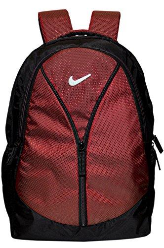 DZert Vila 35 Liters Polyester Light Weight School Bag Backpack (Maroon)