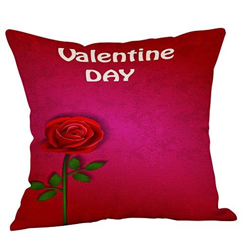 45,7 x 45,7 cm, Happy Valentines Kissenbezug, Leinen, Sofakissenbezug, Heimdekoration, Baumwoll-Leinen, D, See The Title ()