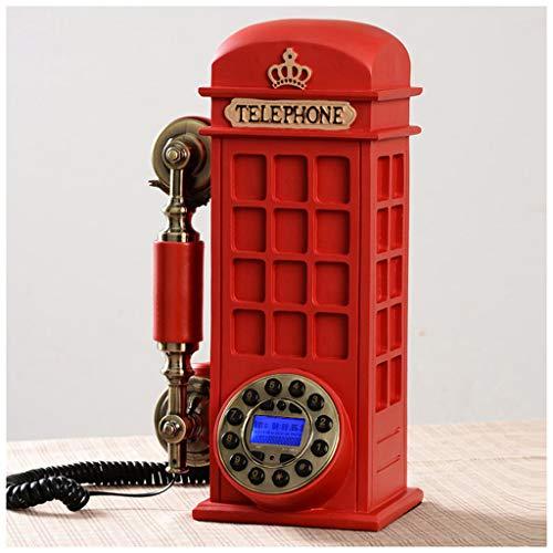 SMC Retro Rote Telefonzelle Festnetz Telefon Mode Kreative Persönlichkeit Freisprecheinrichtung Anrufer Haus New American Antique Feste Telefon - Telefonzelle Telefon