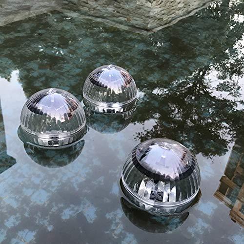 DSstyles Wasserdichte Solarlampe in Kugelform für Pool- und See-Dekoration Warm Yellow Light