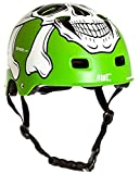 AWE® MEET YOUR MAKER™ BMX Verde 55-58cm del casco REEMPLAZO LIBRE de 5 AÑOS del CRASH *