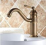 Ytdzsw Messing Antik Einzigen Griff Schwenkbarer Auslauf Badezimmer Waschtisch Armatur Waschbecken Mischbatterie Arbeitsplatte Montieren