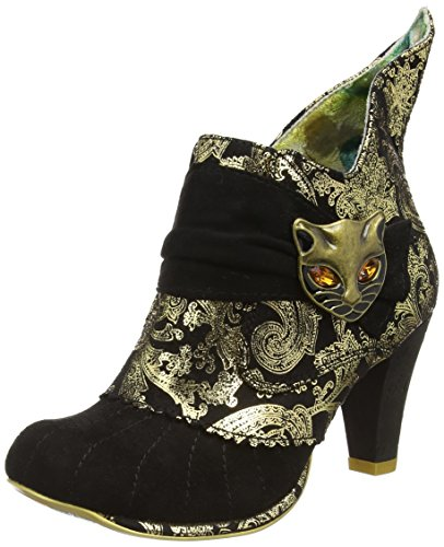 Irregular Choice Miaow, Bottes Classiques Femme Noir - Black (Black/Gold)