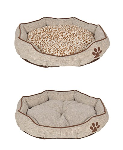 ts-ideen extra weiches Hundebett Tierbett Wendekissen Hundekorb Sofa 55 x 55 cm - 2