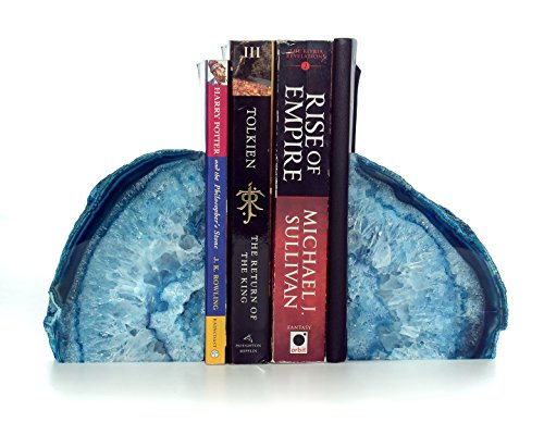 Amethya large polished agate bookends. premium quality book ends made in brazil. 2-4 kg per set (2-4 kgs)