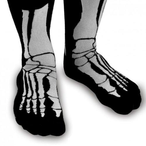 Witzige Socken mit Aufdruck - Skelett ()
