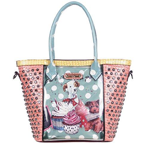 nicole-lee-oversized-tote-bag-cupcake-dog-one-size