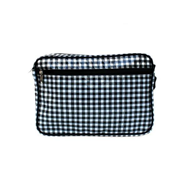 Small Checkered Shoulder Bag Messenger Bag Handbag unisex with vintage pattern crossbody waterproof Vichy - handmade-bags