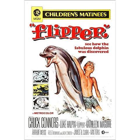 Stampa su tela 40 x 60 cm: FLIPPER di Everett Collection - poster pronti, foto su telaio, foto su vera tela, stampa su tela