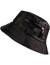 20d2c255263 Unisex Bucket Bush Sun Hat Lined Water Resistant Fishing Boonie in Beige  Black Burgundy Blue