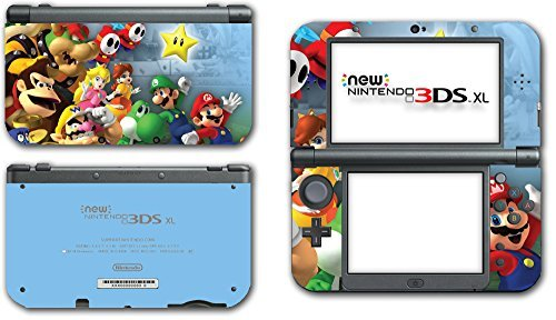 Ds Island Yoshis New (Super Mario Party Friends Island Tour Shy Guy Peach Yoshi Luigi Star Daisy Wario Bowser Video Game Vinyl Decal Skin Sticker Cover for the New Nintendo 3DS XL LL 2015 System Console by Vinyl Skin Designs)