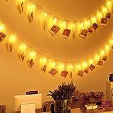 Eaiitty LED Fotoclips mit Lichterkette Clip,Clip Bilder Lichterkette 40 LEDs,LED Foto Clips 5M, Fotolichterkette zum stilvollen dekorieren für Party/Weihnachten/Hochzeit Dekoration