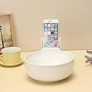 Bluelover Kreative Noodle Bowl Geschirr 2L Großen Melamin Handy Halter Noodle Bowl - Weiß