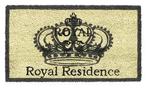 Paillasson d'entrée robuste 100% fibres de Coco naturel, Royal Residence, 40 x 70 cm
