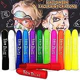 Magicdo Face Paint Crayons Kits, 12 colores no tóxicos y lavables Kids Body y Face Painting Sticks Set, diseño Twistable. Ideal para niños, Navidad, cumpleaños, fiestas