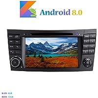 """Android 8.0 Car Autoradio, Hi-azul In-dash 2 Din 8-Core 64Bit RAM 4G ROM 32G Car Radio 7"""" Autonavigation Kopfeinheit Car Audio mit 1024 * 600 Multitouch-Bildschirm und DVD Player Moniceiver für Mercedes-Benz E-W211/E200/E220/E240/E270/E280 Unterstützen Lenkradkontrolle, RDS Radio Tuner (Autoradio)"""