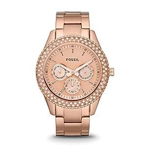 Fossil Damen-Armbanduhr Ladies Dress Analog Edelstahl ES3003