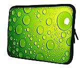 """Luxburg 13"""" pouces Housse Sacoche Pochette pour ordinateur portable / tablet - Vert avec des bulles"""