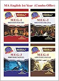 Neeraj Publication MA English Ist Year Combo (MEG-1, MEG-2, MEG-3, MEG-4) [Flexibound] IGNOU Help Book with Solved Previous Years Question Papers and Important Exam Notes neerajignoubooks.com