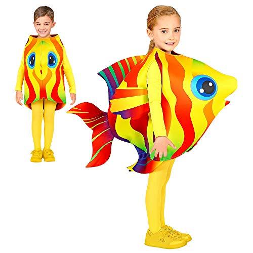 Widmann 00045 Kinderkostüm Tropenfisch, Unisex-Kinder, Gelb, 116-128 cm