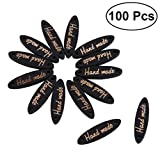 ULTNICE 100 Stücke Handmade Knöpfe 2 Löcher Holzknöpfe Set für Nähen Scrapbooking DIY Handwerk (schwarz)
