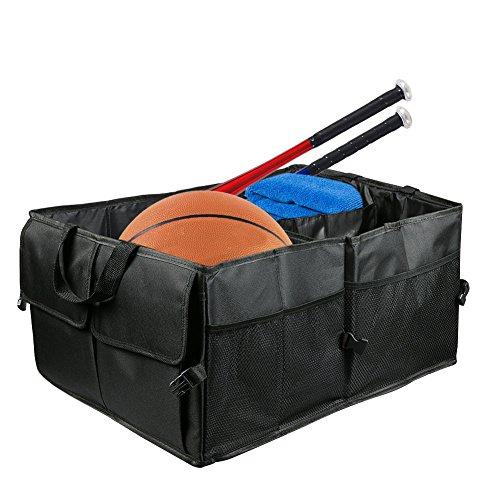 Rangement Coffre Voiture, Organisateur de Coffre, Repliable Multifonctionnel Tissu Oxford Noir