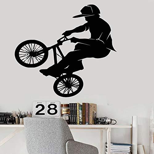 guijiumai DIY tapete Mode Vinyl PVC wandtattoo Fahrrad BMX Sport Extreme wandaufkleber wohnkultur wandbild weiß m 57x60 cm