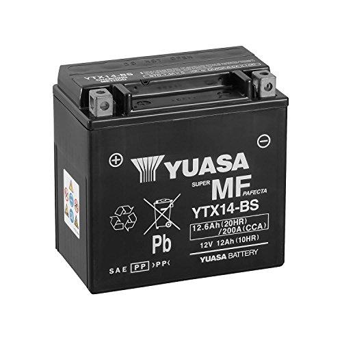 YUASA Batterie-YTX14-BS-Combipack (avec électrolyte)