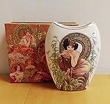 Atelier Harmony Alfons Mucha Vase en Porcelaine avec Coffret Cadeau...