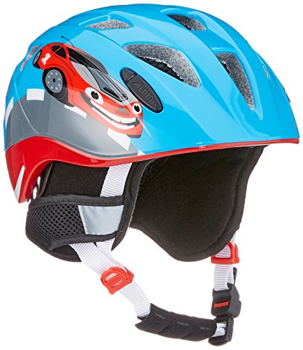 Alpina Kinder Radhelm Ximo Flash Winter Fahrradhelm, red car, 47-51 cm