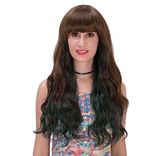 QIYUN.Z Partie De Costume Cosplay Frange Soignée Perruques Résistant Longue Coser Cheveux Complète