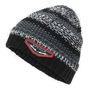 Spyder Terrain Kinder Strick Winter Ski Mütze – schwarz