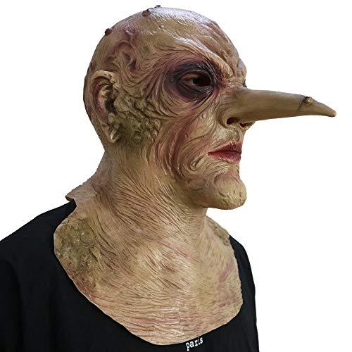 Riesiger Nase Maske - The Grand Witch - Perfekt Für Fasching, Karneval & Halloween - Kostüm Für Erwachsene - Latex, Unisex Einheitsgröße