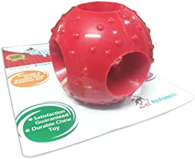 Super Dog Flavoured Rubber Chew Ball with Holes, Large