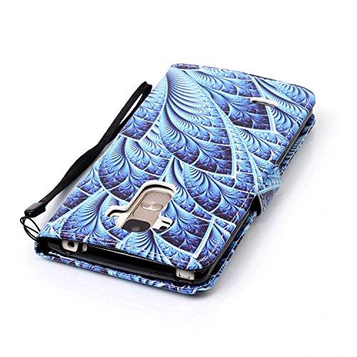 PU Silikon Schutzhülle Handyhülle Painted pc case cover hülle Handy-Fall-Haut Shell Abdeckungen für LG G4 Stylus/LS770(5.7 zoll) +Staubstecker (8OO) 6