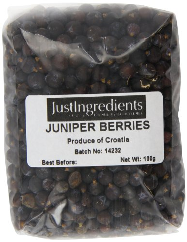 JustIngredients Essential Juniper Berries Bayas de Enebro - 2 Paquetes de 100 gr - Total: 200 gr