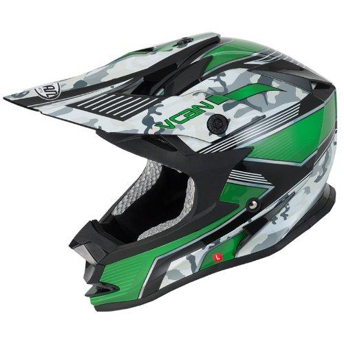 VCAN V321FORCE Graphic Motocross Casco, Green, 61-62 cm (XL)