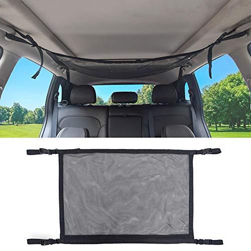 Autodach aufbewahrungstasche, auto decke mesh aufbewahrungstasche, dach innen frachtnetz tasche mit reißverschluss atmungsaktiv einstellbar kleinigkeiten aufbewahrungstasche universal für auto