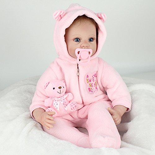 LLX Nicery Reborn Baby Dolls 22 Pulgadas 55 Cm Vinilo De Silicona Suave Reborn Toddler Realistic Real Lifelike Newborn Dolls Baby Girl Juguete De Regalo De Navidad