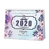 Calendrier de bureau 2020 mensuel, quotidien, hebdomadaire Agenda du calendrier , s'étend de Septembre 2019 à décembre 2020 - Violette...