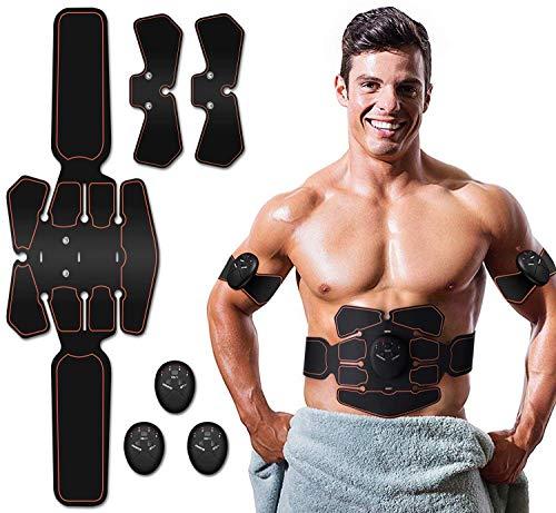Zhenrog elettrostimolatore per addominali elettrostimolatore muscolare, addominale tonificante cintura abs, ems stimolatore muscolare addome/braccio/gambe/waist/glutei-uomo/donna